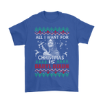 All I Want For Christmas Is Daryl Dixon The Walking Dead Shirts | Christmas Daryl Dixon Holiday Movie The Walking Dead