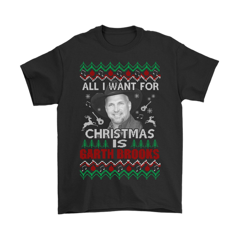 All I Want For Christmas Is Garth Brooks Shirts | All I Want Christmas Garth Brooks Holiday Music