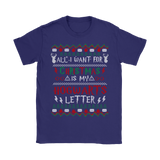 All I Want For Christmas Is My Hogwarts Letter Harry Potter Shirts | All I Want Christmas Harry Potter Hogwarts Holiday
