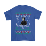 All I Want For Christmas Is Paul Mccartney Shirts | Band Christmas Holiday Merry Christmas Music
