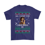 All I Want For Christmas Is Whitney Houston Shirts | Actress All I Want Christmas Holiday Merry Christmas