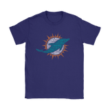 All In One Players Name Miami Dolphins Official Logo Shirts | Football Miami Dolphins Nfl Sport