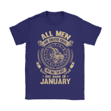 All Men Are Created Equal Are Born In January Shirts | Capricorn Horoscope January Man Month