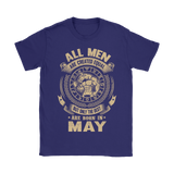 All Men Are Created Equal Are Born In May Shirts | Horoscope Man May Month Taurus