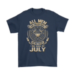 All Men But Only The Best Are Born In July Cancer Zodiac Shirts | Born Equal Cancer (Zodiac) Created Equal July Month