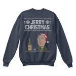 All Through The Night Jerry Christmas Rick And Morty Ugly Sweater | Alone Christmas Holiday Jerry Smith Merry Christmas