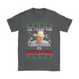 All I Want For Christmas Is George Strait Shirts | All I Want Christmas George Strait Holiday Music