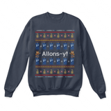 Allons-Y! Tenth Doctor Who Ugly Sweater | 10Th Doctor Allons-Y Christmas Doctor Who Tardis