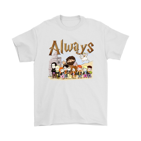 Always Harry Potter Chibi Art Style Shirts | Always Animal Cartoon Harry Potter Hermione Granger
