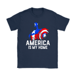 America Is My Home Captain America 4Th Of July Shirts | 4Th Of July America Captain America Independence Day Marvel