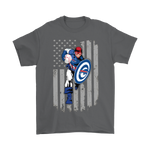 American Football Captain America Buffalo Bills Shirts | Buffalo Bills Captain America Football Nfl Sport