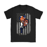American Football Captain America Denver Broncos Shirts | Captain America Denver Broncos Football Mashup Nfl