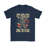 And God Said Let There Be Marines And The Devil Ran In Fear Shirts | American Flag Army Evil Marines United States Marine Corps