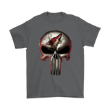 Arizona Coyotes The Punisher Mashup Ice Hockey Shirts | Arizona Coyotes Ice Hockey Mashup Nhl Skull
