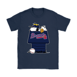 Atlanta Braves Snoopy And Woodstock Resting Together Mlb Shirts | Atlanta Braves Baseball Mashup Mlb Snoopy