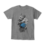 Baby Groot Hugging Minion Doll Despicable Me Shirts | Groot Guardians Of The Galaxy Marvel Mashup Minion