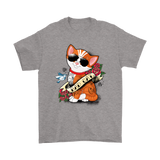 Bad Cat Tattooed Cat Too Cool For You Shirts | Animal Cat Tattoo Tattooed Animal