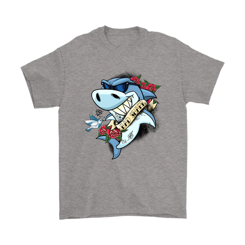 Bad Shark Tattooed Shark Too Cool For You Shirts | Animal Shark Tattoo Tattooed Animal