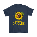 Baltimore Orioles Sunflower Mlb Baseball Shirts | Baltimore Orioles Baseball Flower Mlb Sport