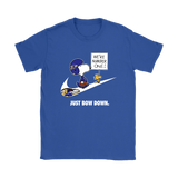 Baltimore Ravens Are Number One - Just Bow Down Snoopy Shirts | Baltimore Ravens Football Just Do It Mashup Nfl