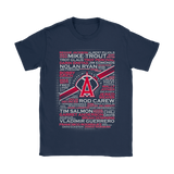 Baseball All Players Team Los Angeles Angels Of Anaheim Shirts | Anaheim Angels Baseball Holiday Los Angeles Angels Of Anaheim Mlb