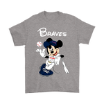 Baseball Mickey Team Atlanta Braves Shirts | Atlanta Braves Baseball Disney Mashup Mickey