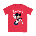 Baseball Mickey Team Cleveland Indians Shirts | Baseball Cleveland Indians Disney Mashup Mickey