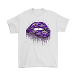 Biting Glossy Lips Sexy Baltimore Ravens NFL Football Shirts