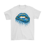 Biting Glossy Lips Sexy Los Angeles Chargers NFL Football Shirts