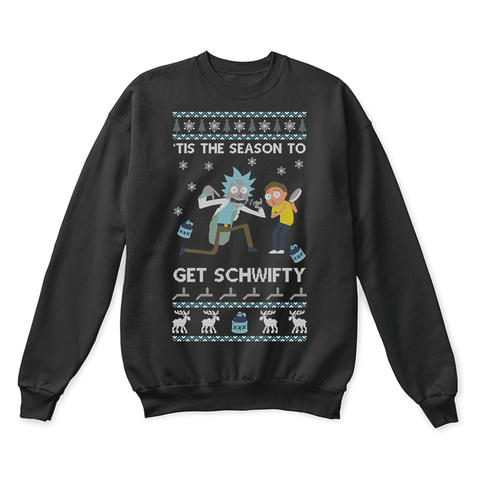 The Season To Get Schwifty Rick And Morty Ugly Christmas Sweater | Christmas Holiday Mashup Morty Smith Rick And Morty