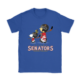 Lets Play Ottawa Senators Ice Hockey Snoopy Nhl Shirts | Charlie Brown Ice Hockey Mashup Nhl Ottawa Senators