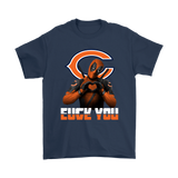 Chicago Bears X Deadpool Fuck You And Love You Nfl Shirts | Chicago Bears Deadpool Football Fuck You Love You