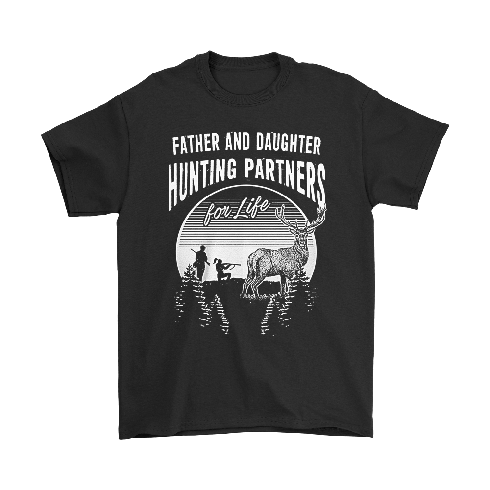 34fe34c2 Father And Daughter Hunting Partners For Life Family Shirts   Daughter  Family Father Hunter Hunting