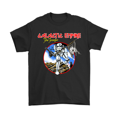 Galactic Empire The Trooper Star Wars Iron Maiden Mashup Shirts | Heavy Metal Iron Maiden Mashup Movie Music