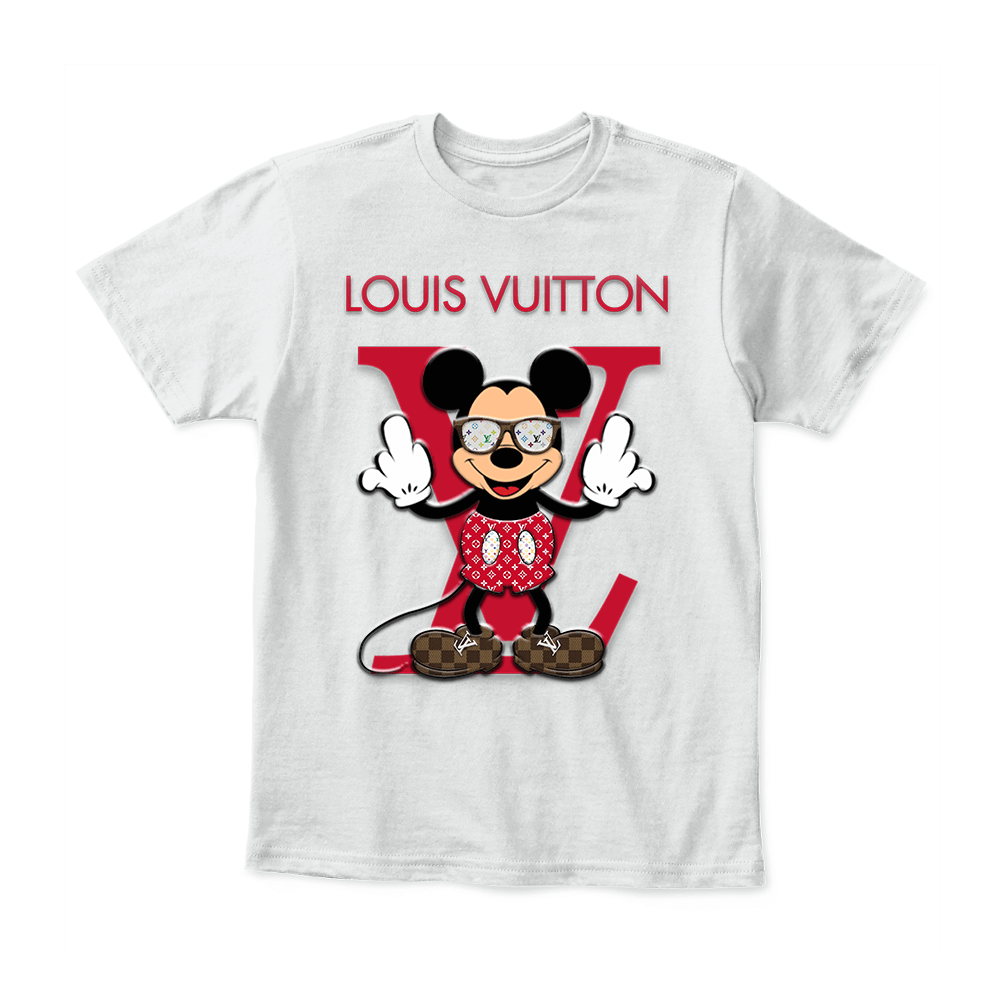 55243537844158 Louis Vuitton Disney Mickey Mouse District Youth Shirt – Tee x Tee