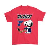St. Louis Blues Ice Hockey Broken Teeth Snoopy NHL Shirts-Gildan Mens T-Shirt-Red-S-TeexTee