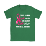 Breast Cancer Pink Ribbon My Fight Shirt My Life Shirts