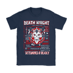 World Of Warcraft Death Knight Determined And Deadly Shirts | Death Knight Rpg Tank Tank Role Video Game
