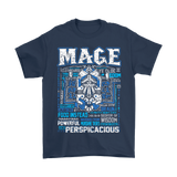 World Of Warcraft Mage Powerful And Perspicacious Shirts | Dps Mage Rpg Video Game World Of Warcraft