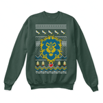 World Of Warcraft The Alliance Crest Ugly Sweater | Christmas Gamer The Alliance Video Game World Of Warcraft