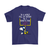 Be A Giants Fan New York Giants x Snoopy Mashup Shirts