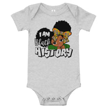 "Load image into Gallery viewer, ""I Am Black History"" Infant Bodysuit"