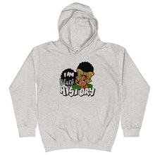 "Load image into Gallery viewer, ""I Am Black History"" Kids Hoodie"
