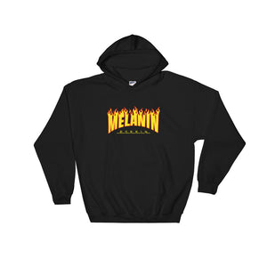 """Melanin Poppin Fire"" Hooded Sweatshirt"