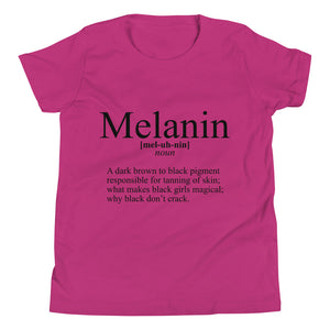 """Define Melanin"" Youth Short Sleeve T-Shirt"
