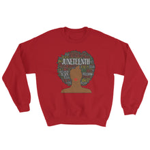 "Load image into Gallery viewer, ""Juneteenth Afro"" Sweatshirt"