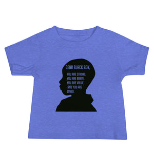 """Dear Black Boy"" Baby Jersey Short Sleeve Tee"