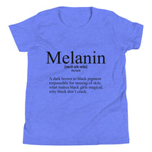 "Load image into Gallery viewer, ""Define Melanin"" Youth Short Sleeve T-Shirt"
