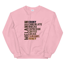"Load image into Gallery viewer, ""Melanin Flavors"" Unisex Sweatshirt"