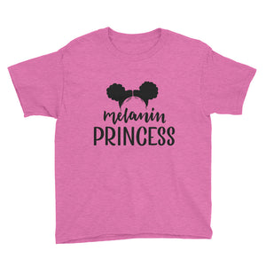 """Melanin Princess"" Youth Short Sleeve T-Shirt"
